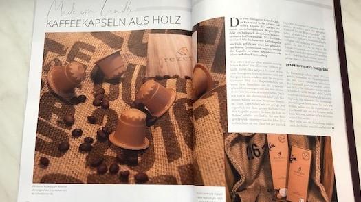 Artikel über die Kaffeekapsel aus Holz im Geheimtipp Stuttgart