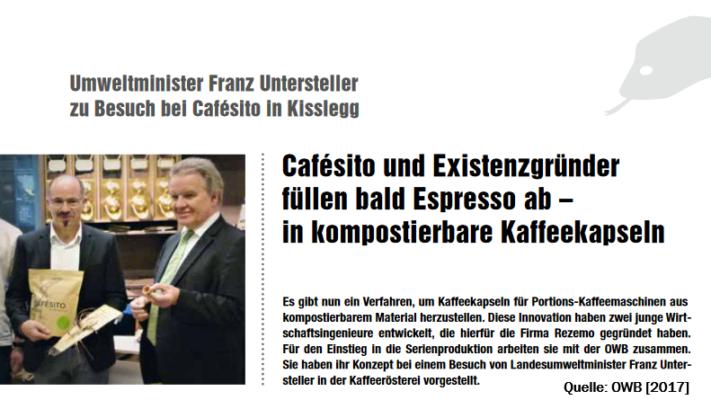 Artikel ueber rezemo und Cafesito im LOGO Magazin