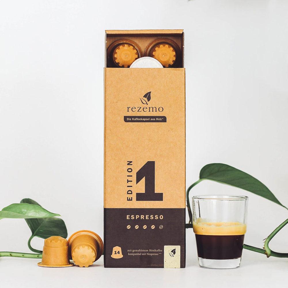 rezemo 14er-Verpackung Edition 1 mit Kaffeetasse