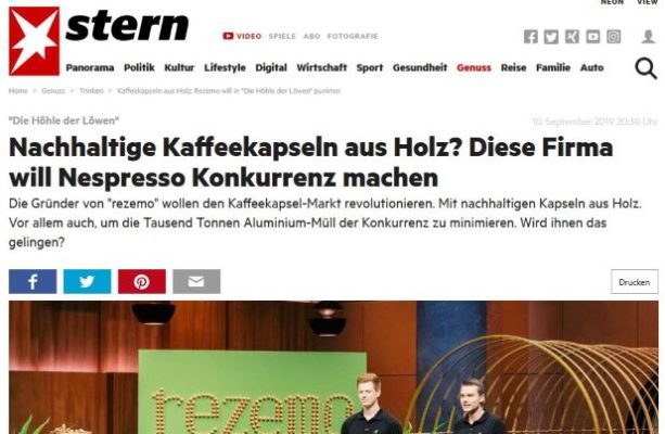 Artikle im Stern darüber, wie rezemo Nespresso Konkurrenz macht