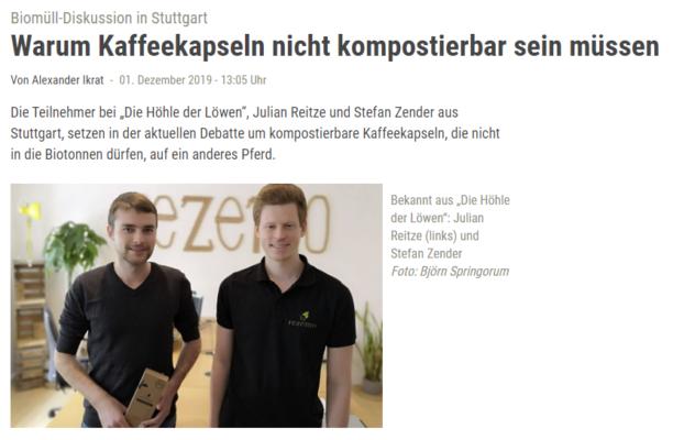 rezemo in der StZ darüber, wieso Kaffeekapseln nicht kompostierbar sein müssen