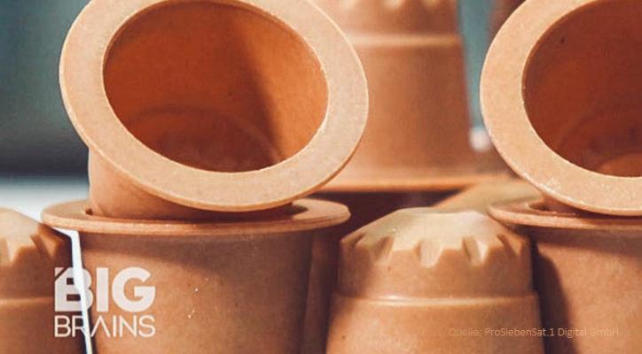 Beitrag ueber die rezemo Kaffeekapsel aus Holz bei Galileo Big Brains