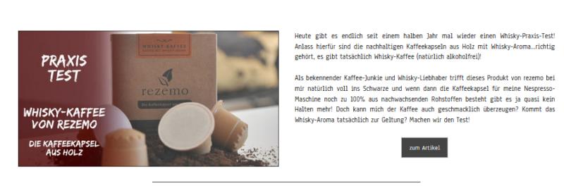 Whisky-Kaffee aus nachhaltigen Kaffeekapseln aus Holz im Test bei Whisky-Helden.de