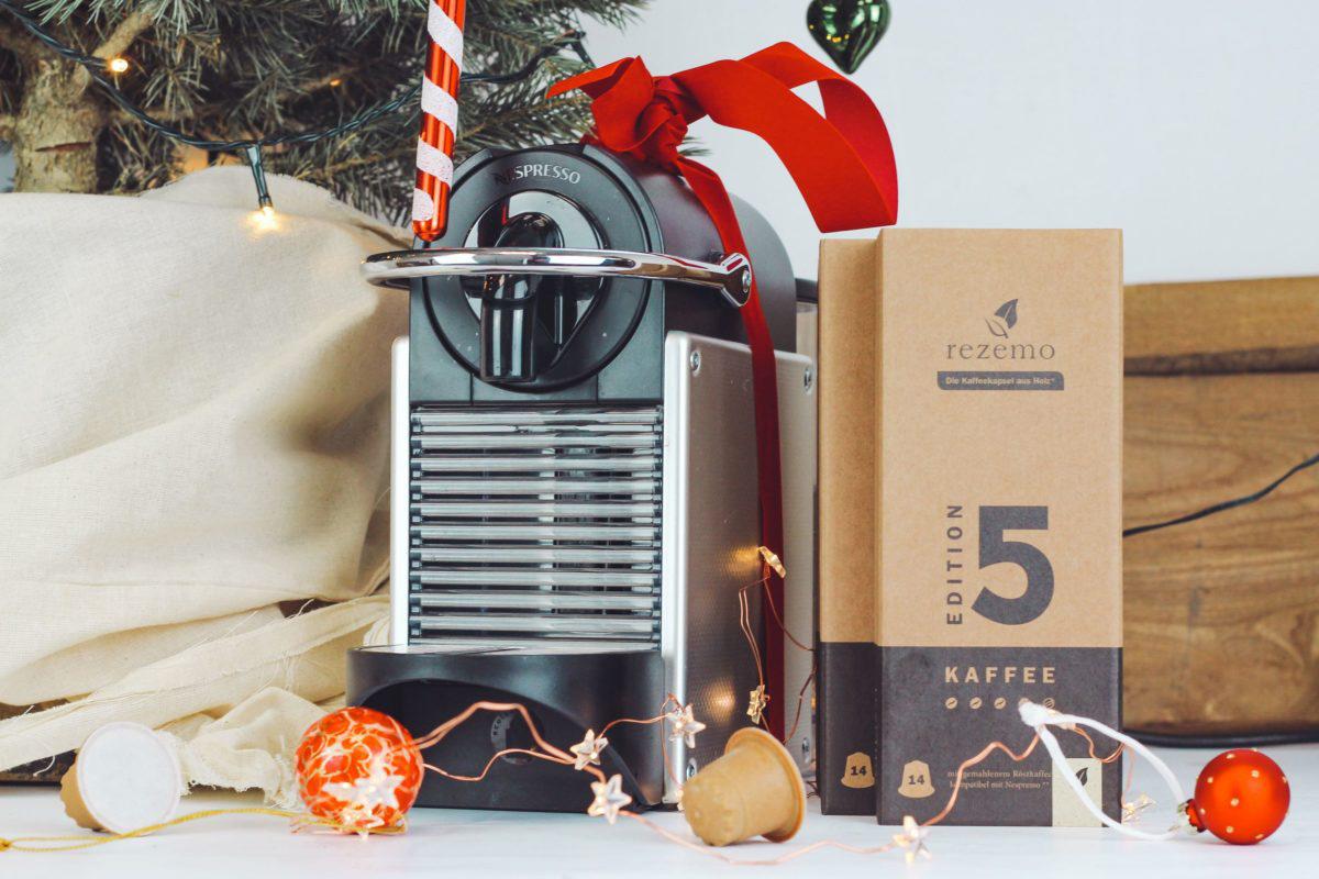 rezemo Starter Set mit Kapselmaschine und 70 rezemo Kaffeekapseln