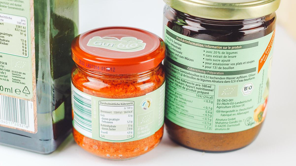 Bio Siegel auf Lebensmitteln