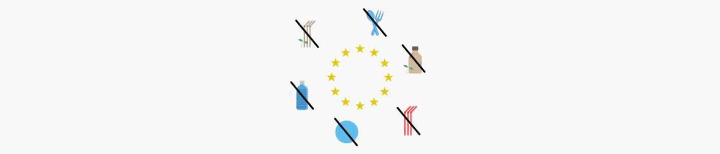 Grafik für EU-Verbot von Einwegkunststoffen
