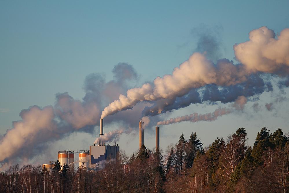 Abgase durch Verbrennungsanlagen