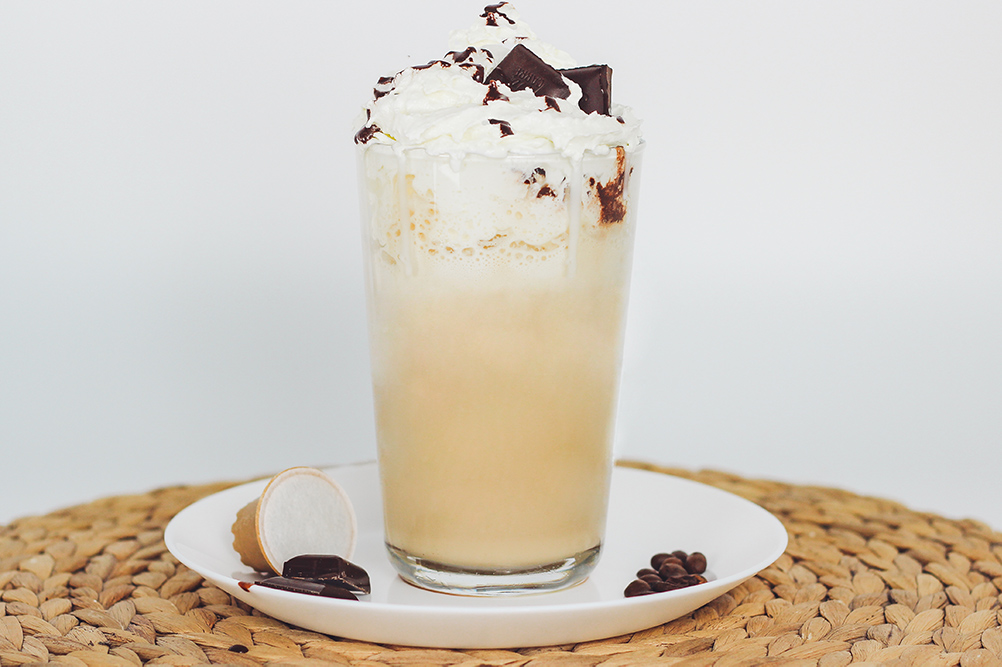 Sommer Rezept für einen erfrischenden Frappuccino im Sommer